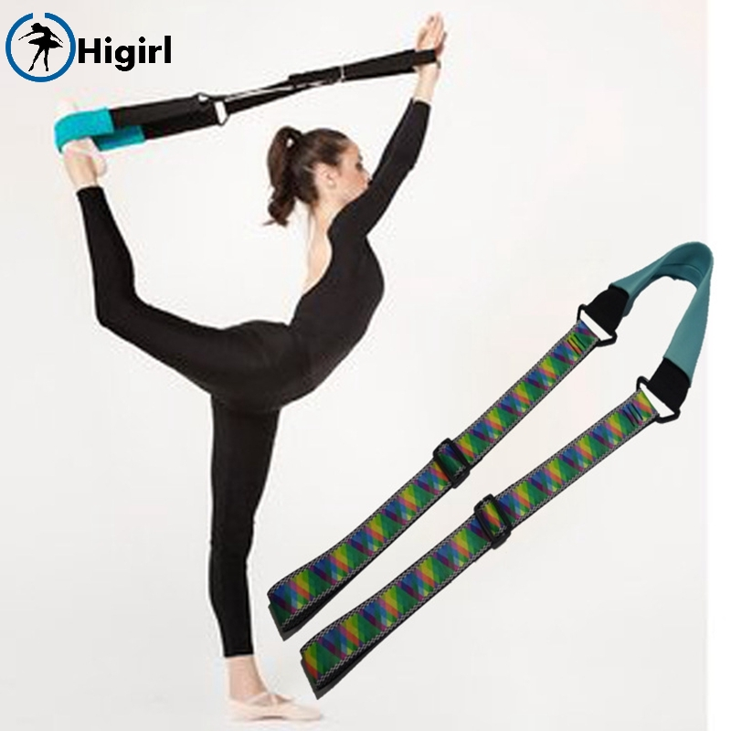Hot selling Ballet Dance Soft Opening Band Yoga Stretch Pull Up Strap Tension Resistance Bands Fitness Training band DT021B