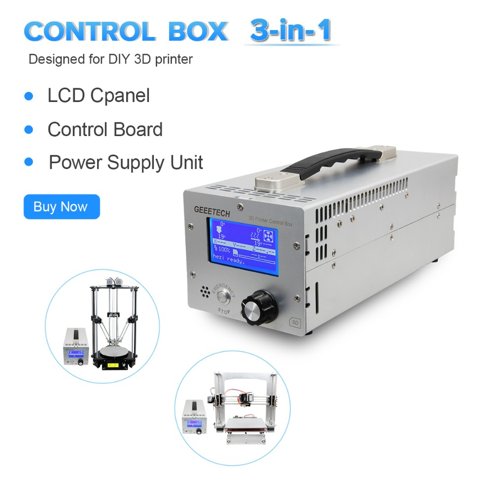 Geeetech 3 in 1 3D Printer Control Box Fit For Reprap Prusa I3 Rostock Diy CNC
