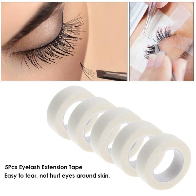 US $2 55 44% OFF|5 Pcs Eyelash Extension Lint Free Eye Pads White Tape  Under Eye Pads Paper For False Eyelash Patch Make Up Tools-in False  Eyelashes
