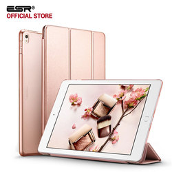 Case for iPad Pro 10.5 inches, ESR Yippee Color PU Leather Transparent PC Back Ultra Slim Light Weight Trifold Smart Cover Case