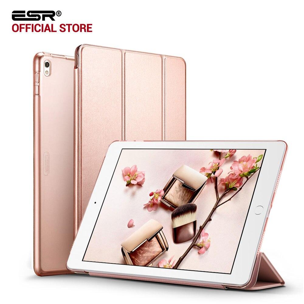 Fall für iPad Pro 10,5 zoll, ESR Yippee Farbe Pu-leder Transparent PC Zurück Ultra Dünne Licht Gewicht Trifold Intelligente Abdeckung Fall