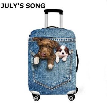 e03f9de2b Cubierta de equipaje de la canción de JULY'S maleta de viaje con estampado  de animales traje Protector 18-32 'maleta perro gato carrito estuche de  viaje ...