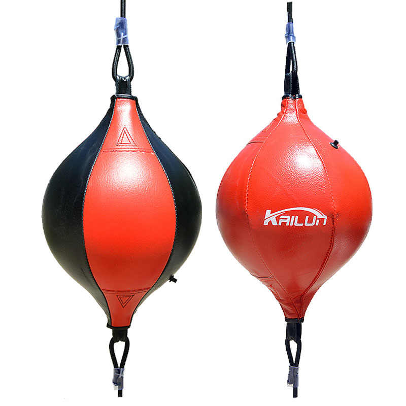 Double End Muay Thai Boxing Punching Bag Speed Ball PU Leather Punch Training Fitness Sports Practical Speed Balls