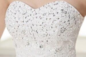 Image 5 - Costomize Real photo Wedding Dress 2016 Korean Style vestido de noivawhite wedding gown floor length sequin wedding dress bride