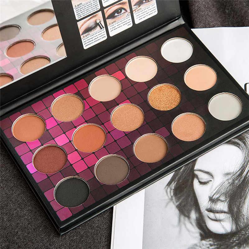 Nieuwe Collectie 15 Kleur Cosmetische Matte Eyeshadow Palette Matte Glitter Gepigmenteerde Oogschaduw Make-Up Palet Shimmer Set Femme