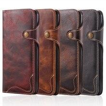 Чехол-кошелек из натуральной кожи для Apple iPhone 6, 6 S, 7 Plus, Ретро стиль