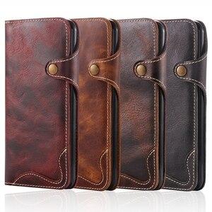 Чехол-бумажник из натуральной кожи для Apple iPhone 6 6S 7 Plus, винтажный Ретро Чехол-книжка с застежкой