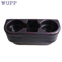 Auto Car Styling Black 2 Cup Holder Drink Beverage Seat Wedge Car Auto Truck Universal Mount