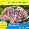 Autocollants à bulles colorées 3D, 5 feuilles, dessin animé mixte, voitures, princesse Waterpoof, bricolage, jouet pour enfants, garçons et filles, offre spéciale GYH