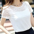Fashion Women Lace Femme Tops Summer Short Sleeve Women Top Plus Size