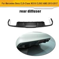 Cls класса углеродного волокна заднего бампера Выпускной диффузор спойлер для Mercedes Benz W218 Седан 4 двери 15 17 CLS63 AMG S