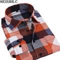 YXS406 2015 New Arrival Men'S Casual Long-Sleeved Brand Plaid Shirt Men Flannel Dress Shirts Men'S Shirts Plus Size-4XL