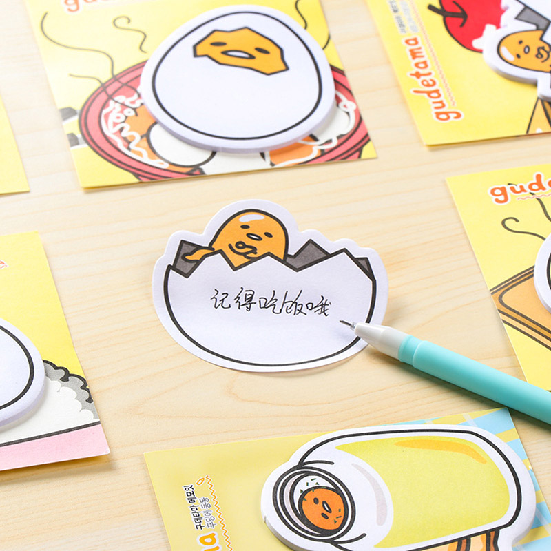 Cute Kawaii Memo Pad Post It Cartoon Gudetama Sticky Notes Writing Pads Stationery School Supplies Free Shipping 194 200 sheets 2 boxes 2 sets vintage kraft paper cards notes filofax memo pads office supplies school office stationery papelaria