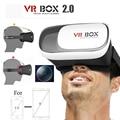 """Caixa de óculos de realidade virtual vr 2.0 google papelão óculos 3d vr fone de ouvido + controle remoto bluetooth para 4.0 """"-6.0"""" smartphone"""