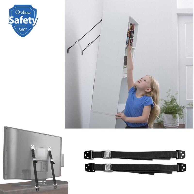 Anclajes Ajustables Anti-Tip Muebles Kit TV Correas de Seguridad para ni/ños beb/é ni/ños Seguridad