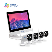 Video Bullet Ip Cameras Wifi 2.0mp With Nvr 4ch H.264 Onvif P2p Outdoor Waterproof Surveillance Security System Kit Hot