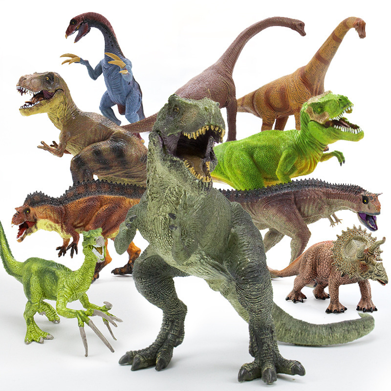 Dinosaur Model Figurines Toys withbackround Board Jurassic Park Animals KidsGift