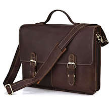 Maxdo High Quality First Layer of Cowhide Genuine Leather Men Portfolio Briefcase Messenger bags Shoulder bags #M7090