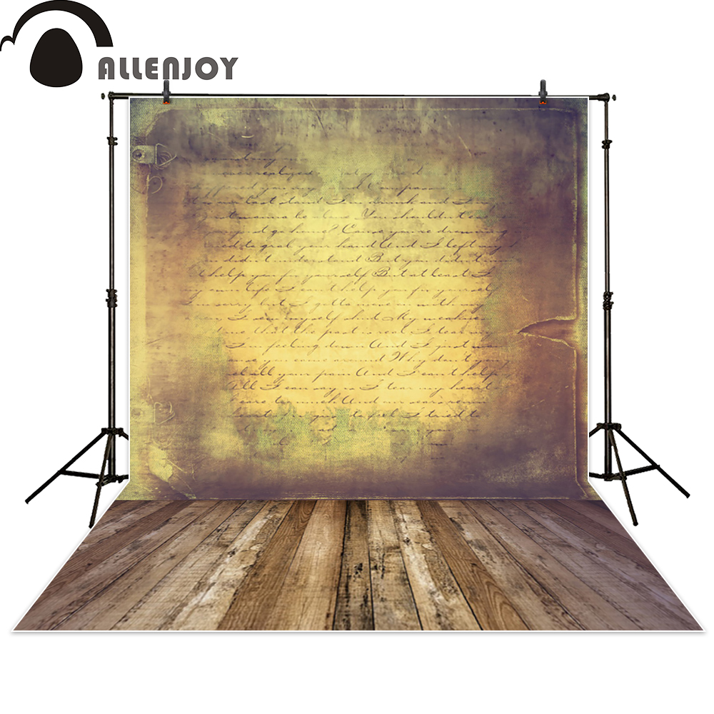 Allenjoy photography backdrop vintage letter brown wood photocall photographic photo studio photobooth fantasy