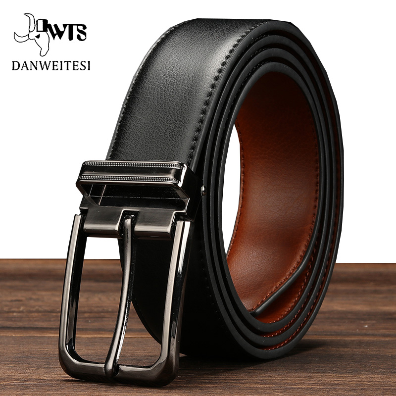 [DWTS]male Belt Men Fashion Jeans Men's Belt Strap Male Genuine Leather Belts For Men High Quality Pin Buckle