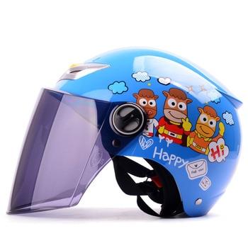Elektrisches Motorrad Für Kinder | 2018 Sommer Kinder Kinder Motorrad Helm Für Jungen Mädchen, ABS Halbe Gesicht Motorrad Elektrische Fahrräder Für Größe S
