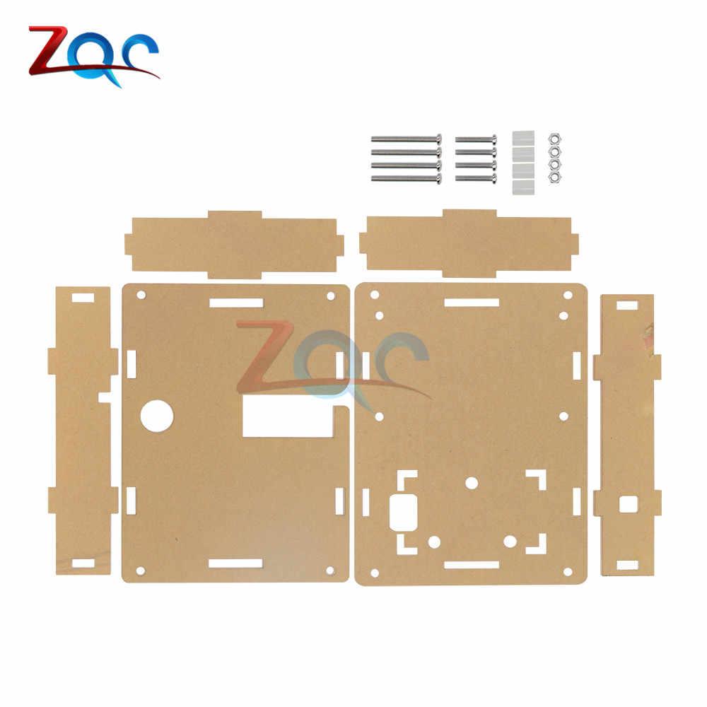 透明アクリルケースシェルハウジングLCR-T4 M328 トランジスタテスター静電容量、esr Mega328