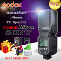 Godox ving v860ii e-ttl i-ttl hss 1/8000 s li-ion flash 2.4g inalámbrico speedlite flash para canon nikon sony dslr cámaras