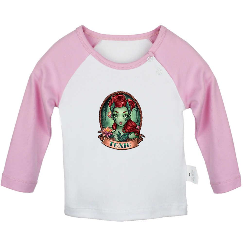 Кошмар до Рождества sally Татуировка девушка токсичный Лотос одежда для клоуна новорожденных Футболки для малышей Графический длинный рукав футболки