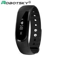 Robotsky смарт-браслет шаг шагомер сердечного ритма Мониторы SmartBand спортивный Пульс Фитнес здоровья трекер для iOS и Android
