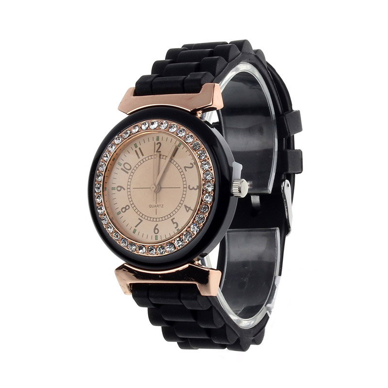 Classic Rhinestone Women Watch Geneva Rubber Watches Vintage Lady Dress Wristwatch Gel Crystal Silicone Jelly Watch Relogio 5 пред page 1 page 5 page 4