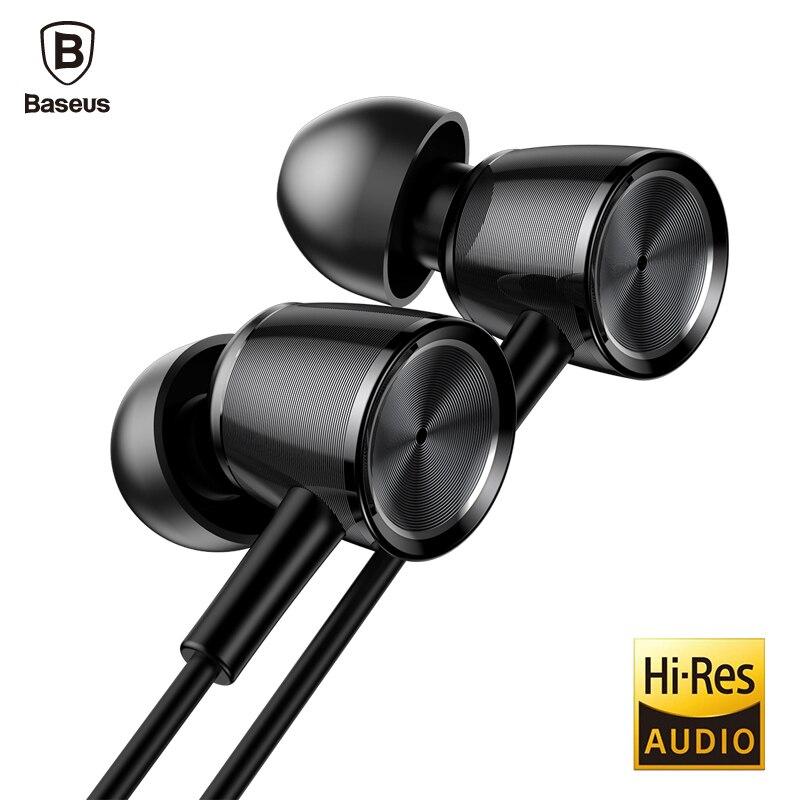 Baseus H07 auricular con cable Sport Auriculares con micrófono Hi-Res de Audio estéreo de Auriculares en la oreja los Auriculares auricular Kulakl K fone de ouvido
