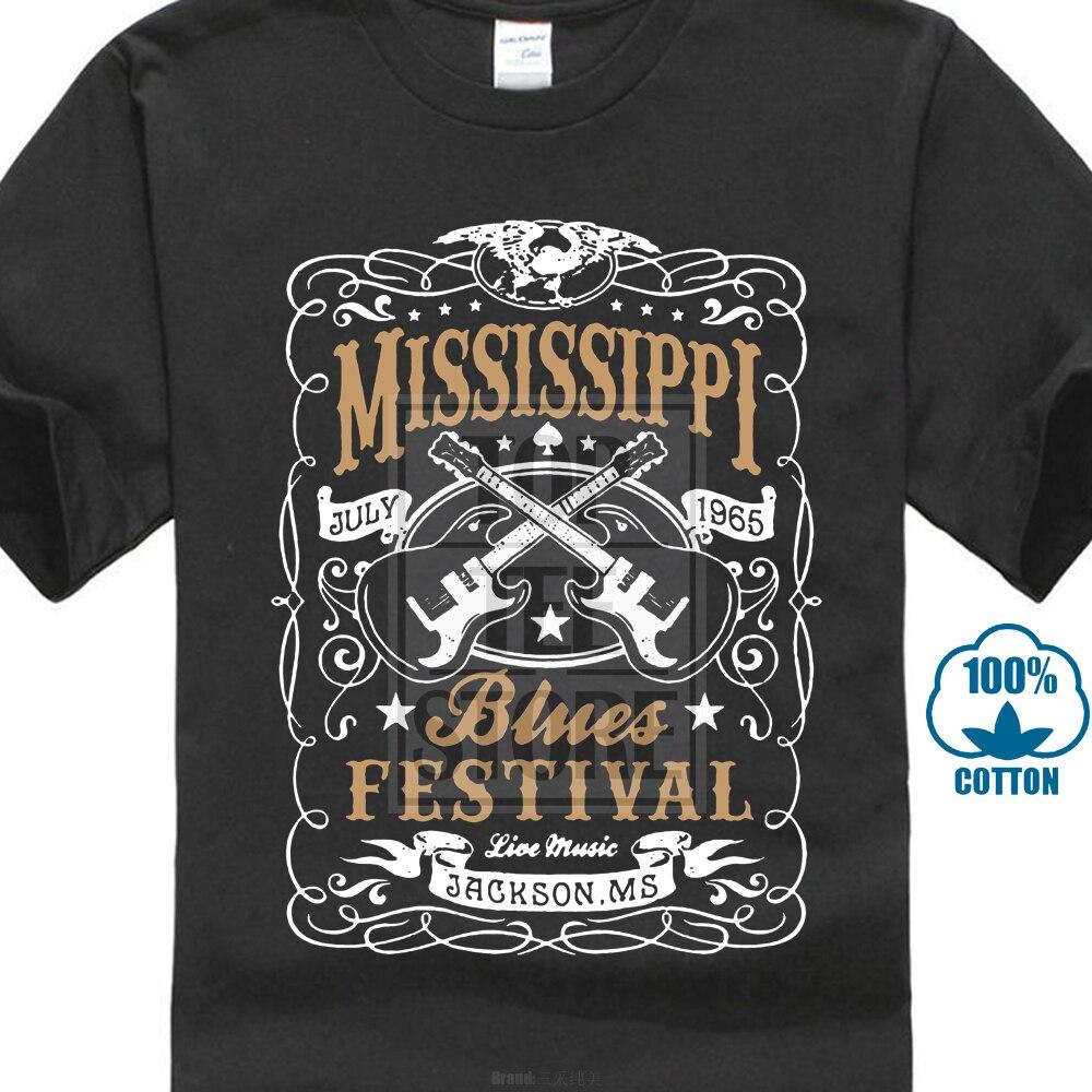 Vintage Rock Blues Music Festival Guitar 25617 3D Print Men's 100% Cotton Short Sleeve Tees High Quality O-Neck   T     Shirt
