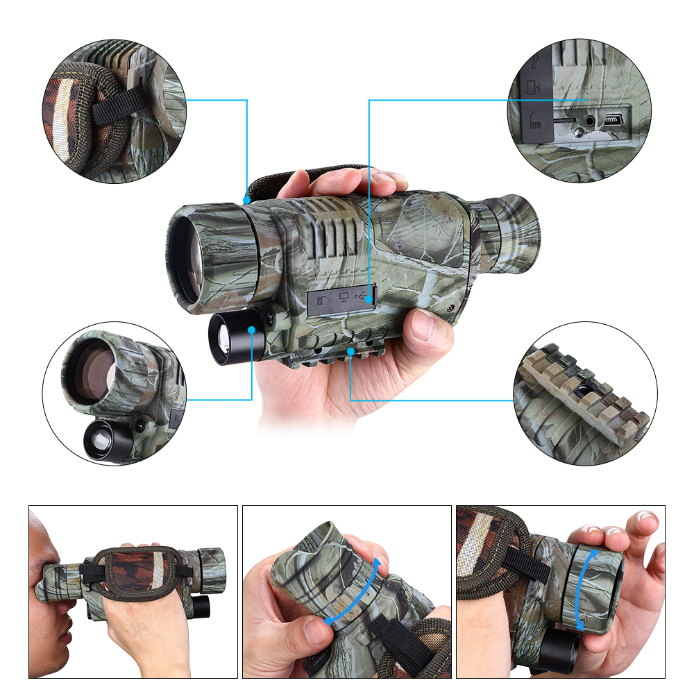 Image 4 - BOBLOV 5X40 Digital Infrared Night Vision Goggle Monocular 200m Range Video DVR Imagers for Hunting Camera Device-in Night Visions from Sports & Entertainment