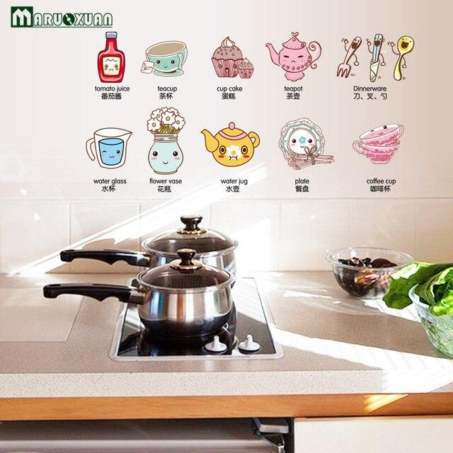 Maruoxuan cucina del fumetto frigorifero adesivi per porte adesivi ...