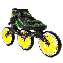 Patins patines en línea zapatos de patinaje de velocidad profesional Todo el tamaño de velocidad en línea 3*125mm