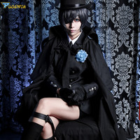 Anime Black Butler Ciel Phantomhive Funeral Cosplay Costume Kuroshitsuji Halloween Costume