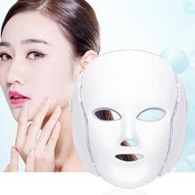 7 Colors Facial Skin Care Photon Therapy LED Facial Mask Facial Beauty Skin Care Rejuvenation Wrinkle Acne Removal Machine ultrasonic galvanic ion led photon therapy skin care facial beauty acne wrinkle freckle remover treatment machine rechargeable