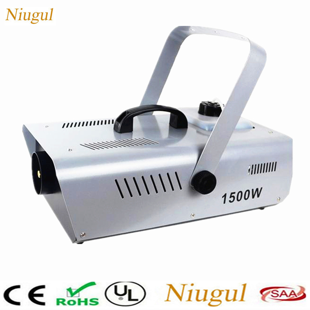1500W Fog Machine/Wireless Remote Control Smoke Machine/Professional 1500W LED Fogger For Bar Wedding Party Stage DJ Equipment