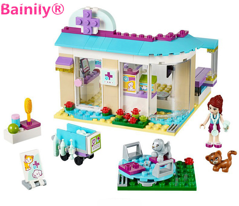 [Bainily]203pcs Friends series DIY Building Blocks Bricks Educational toys For Children Compatible With LegoINGly Friends 808pcs diy new girls series the friendship house set building blocks bricks friends toys for children compatible legoingly 41340