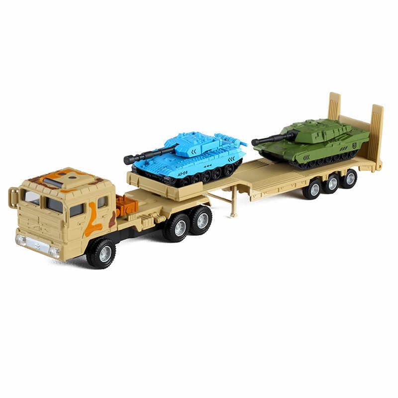 Интересный 1: 64 Военный танк транспортер сплава модель, моделирование литой Военная игрушка, детский подарок на день рождения, бесплатная доставка