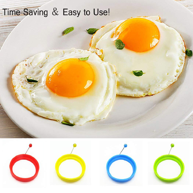 Silicone Round Egg Rings Fry Fried Poacher Mould Kitchen Cooking Tools Non-stick Egg Pancake Mold