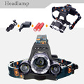 2017 New Headlamp 5000LM 30W High front Hunting lamp light  Led Headlight INCLUDING 2x18650 Battery +Charger
