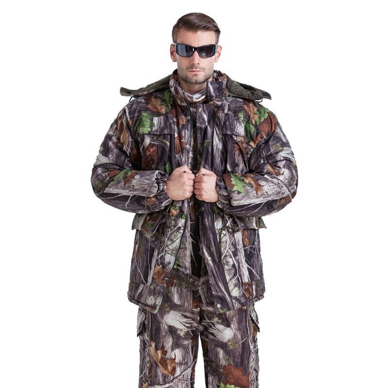 MULTICAM Uniforme D'hiver Jungle Bionic Camouflage Tactique Costume Épaissir Plus La Taille Sniper Costume Chasse Étanche L ~ 4XL CF27
