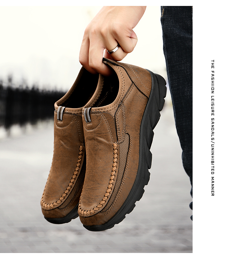 HTB14RI0alKw3KVjSZFOq6yrDVXa5 Men Casual Shoes Loafers Sneakers 2019 New Fashion Handmade Retro Leisure Loafers Shoes Zapatos Casuales Hombres Men Shoes