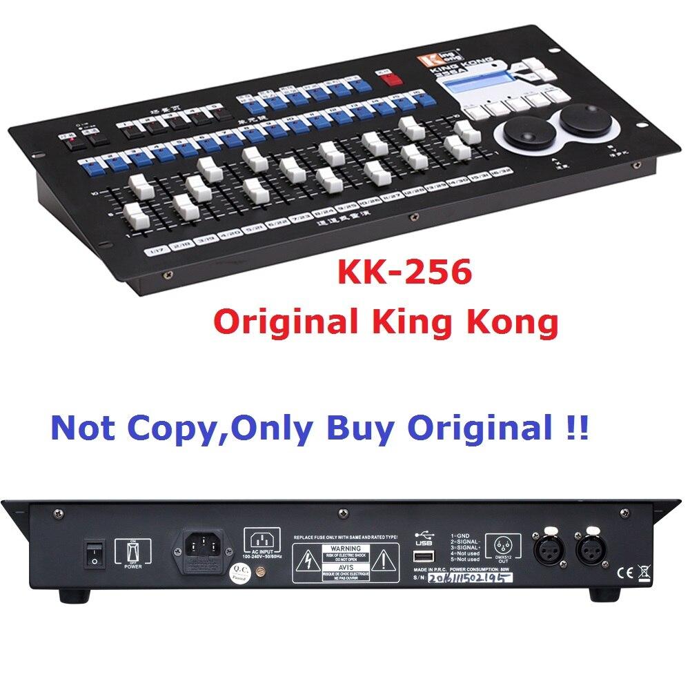 2018 King Kong KK-256 Professional DMX Controller 256 DMX Channels Built in 35 Graphics For 16Pcs Computer Stage Lights dmx512 digital display 24ch dmx address controller dc5v 24v each ch max 3a 8 groups rgb controller
