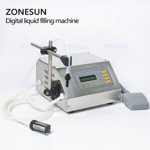 Image 4 - ZONESUN GFK 160 Digital Control Pump Flüssige Füll Maschine Mini Tragbare Elektrische Parfüm Wasser Trinken milch Flaschen Füllstoff