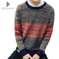 Agasalho Masculino Casaco Masculino O-Neck Striped Slim Fit Knitting Mens Sweaters Pullovers Men Pullover 4XL 5XL Sweater