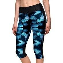 Пуш ап, Летний стиль, женская спортивная одежда для тренировок, повседневные леггинсы для фитнеса, высокая талия, эластичные, дышащие, Капри, штаны для женщин