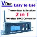 Controlador dmx 512 transmisor y receptor inalámbrico 2in1 lcd display repetidor de potencia ajustable led de iluminación controlador dmx512