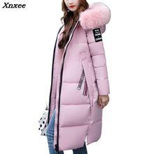 New 2018 Fashion Warm Winter Jacket Women Big Fur Thick Slim Female Jacket Winter Women Hooded Coat Down Parkas Long Outerwear цена в Москве и Питере